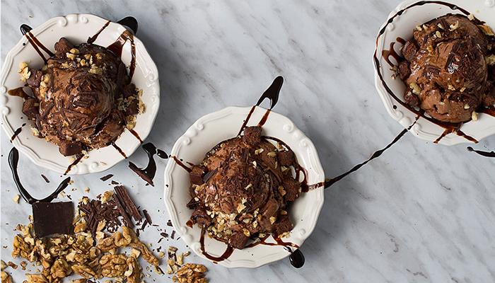 glace choco brownie